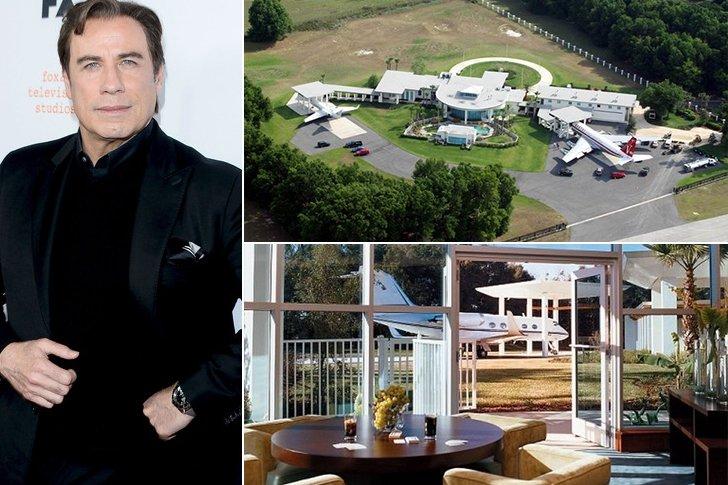 Les 45 maisons de c l brit s les plus dingues leurs for Maison john travolta