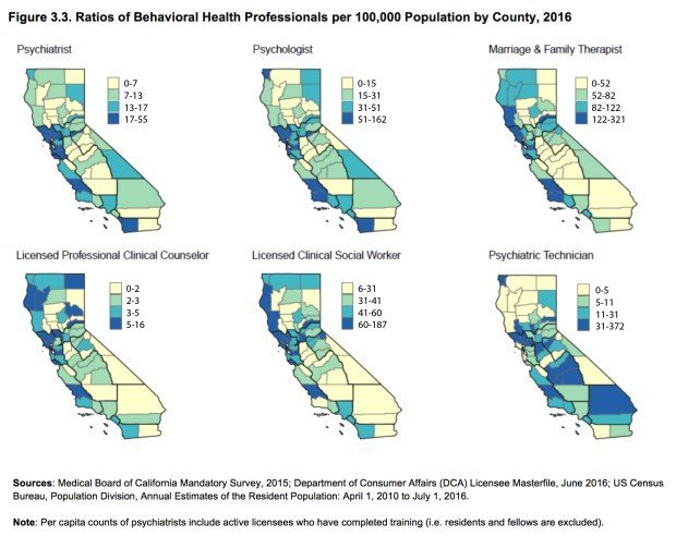 Statistics Show the Decline of Registered Mental Health Workers Per State and Location